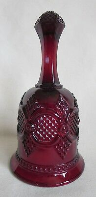 AVON by WHEATON CAPE COD BELL - Christmas 1979 - Vintage Glass Ruby Red