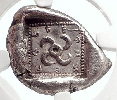 Lycia Dynasts Teththiveibi Ancient Silver 460BC Greek Coin ROOSTERS NGC i75085