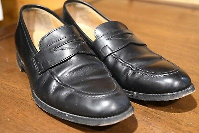 a0407d2f4a197 Crockett   Jones for Peal   Co. Brooks Brothers Black Penny Loafer England  ...