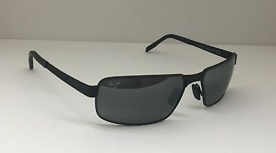 1f250bd0d19 Maui Jim Castaway MJ 187-02M Men Sunglasses Matte Black Rectangle Polarized  O1