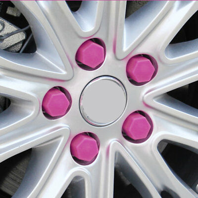Purple 20Pcs/Set 17/1 /21mm Wheel Hub Screw Cover Car Styling Protecting BoltCS