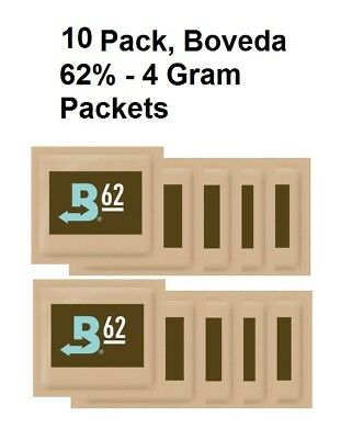 10 Pack - Boveda - RH 62% 4 gram Humidity 2 Way Control Humidor SAVE BAY HYDRO