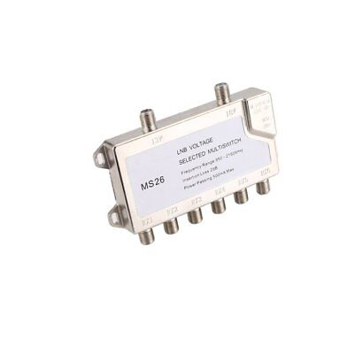 Satellite Standalone MultiSwitch LNB Voltage Switch Cascade 2 in 6 MultiswitYF