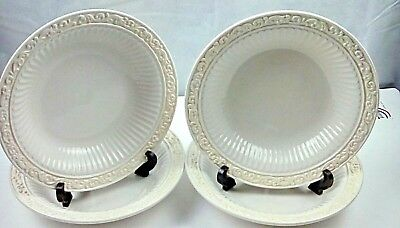 """Set of 4 Lenox BUTLER'S PANTRY 9 1/4"""" Individual Pasta Bowls - Excellent Cond"""