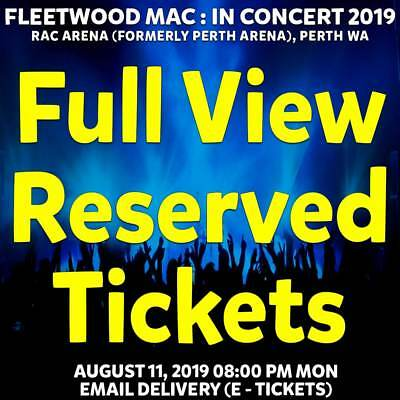 Fleetwood Mac   Perth   Full View Reserved Seating Tickets   Mon 11 Aug 2019 8Pm
