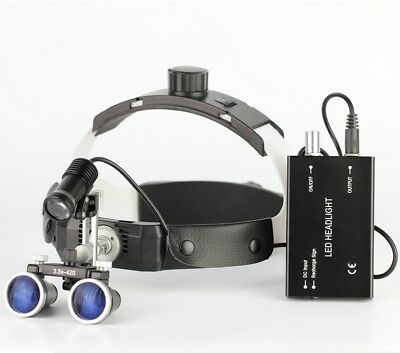 3.5X Headband Dental Loupes with Spotlight Medical Binocular Loupes Magnifier