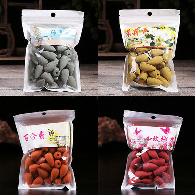45Pcs Dainty Reflux Tower Incense Tea Smoke Backflow Aromatherapy Cones Natural