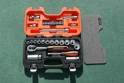 Bahco S330 Socket Set 34 Piece 1/4 and 3/8 Square Drive