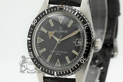 HELBROS Self-Winding Vintage German Made Diver 38 mm Automatic PUW1561 *B3509