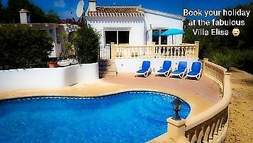 Holiday Villa In Javea Spain Available for  holiday lets Summer 2019 & 2020