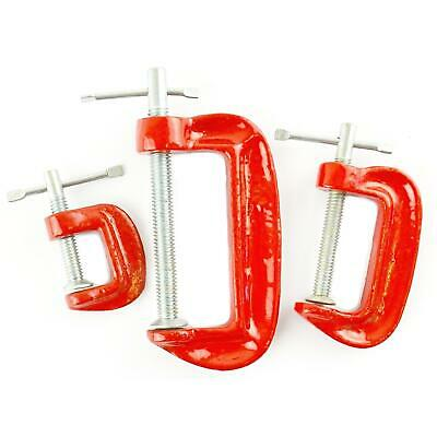 50mm /& 75mm Clamps 30 Piece Mini G Clamp Set Small Wood//Metal C Grip//Vice Hand Tool 25mm