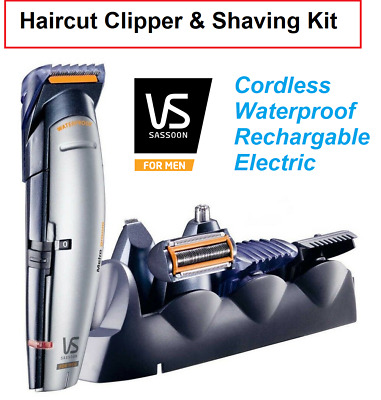 Mens Body Shaver Waterproof Beard Hair Clipper Trimmer Cordless Electric Shower