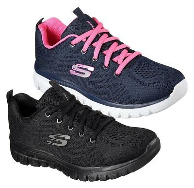 SKECHERS GRACEFUL GET CONNECTED 12615 scarpe donna sportive sneaker tessuto