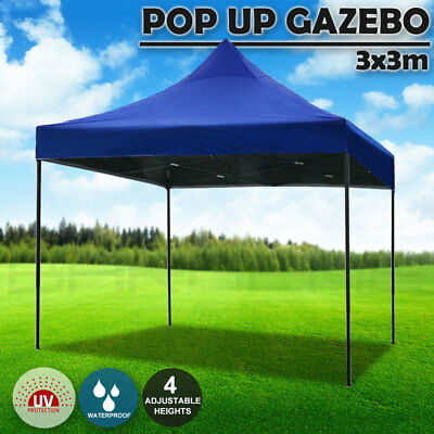3x3m Pop Up Gazebo Outdoor Tent Folding Marquee Party Camping Market Canopy Camp