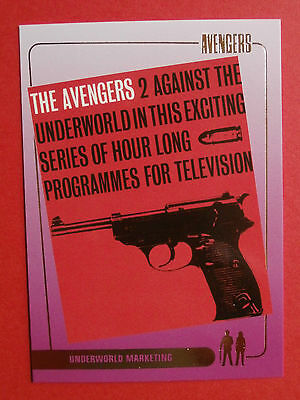 AVENGERS - Gold Foil Chase Card - F2, Underworld Marketing - Strictly Ink 2003