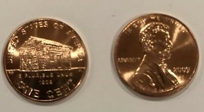 TWO 2009 D Lincoln Cent (Childhood) UNCIRCULATED Pennies from Bank Roll