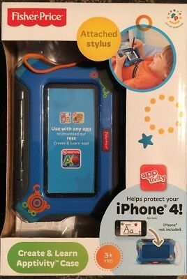 Fisher-Price Create and Learn Apptivity Case for iPhone, Boys, New, MIB