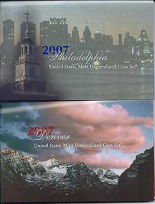 2007 Complete 28 Coin Uncirculated Us Mint Set In Sealed Box Nr