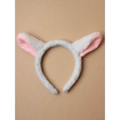 white and pink fur fabric lamb  ears alice band,Fancy Dress, world book day