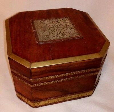 Vintage Hand Made Arts And Crafts Style Octagonal Lidded Box