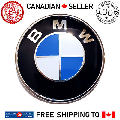 "BMW 73mm 74mm 2.9"" 2 Pin Rear Trunk Hatch Lid Back Emblem Badge Roundel E60 E90"