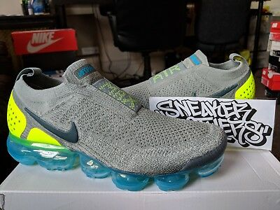 Nike Air Vapormax Flyknit Moc 2 Mica Green Volt Neo Turquoise Blue AH7006-300