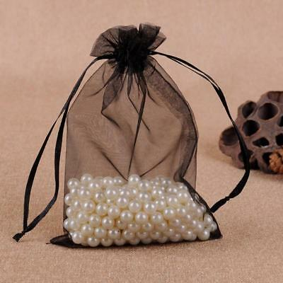 10 x Luxury Black Organza Gift bags Wedding Jewellery Candy favour UK Seller