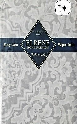 Vinyl tablecloth flannel backing assorted color & size Elrene USA seller