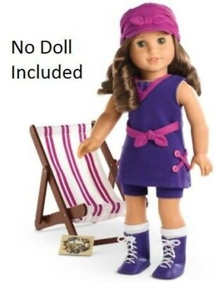 American Girl Doll Rebecca's Seashore Set Chair Beach Swimsuit.LIMITED EDITION.