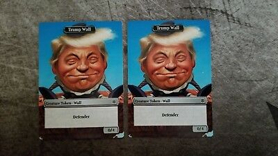 Donald Trump Walls Collectible Trading Cards Magic the Gathering