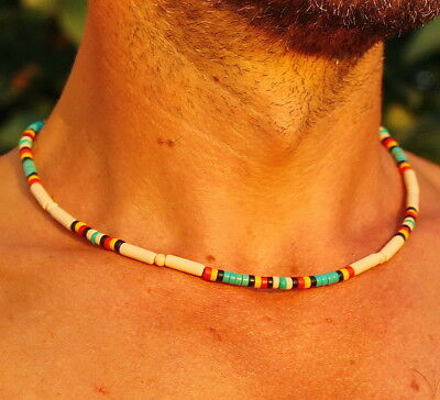 Native American Indian Jewelry Style Southwestern Choker Necklace, mens necklace