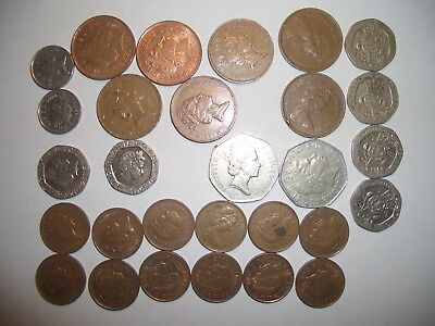 Worldwide Foreign Coin Collection: Europe, Asia, Americas, Middle East; 60 Coins