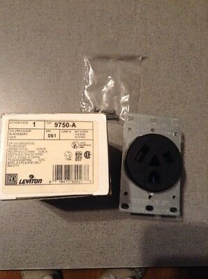 Leviton Straight Blade Receptacle Power Outlet 7-50 50A 277VAC LEVITON 9750-A