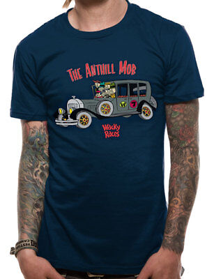 Wacky Races Anthill Mob Official Hanna Barbera Dastardly Muttley Blue Men Tshirt