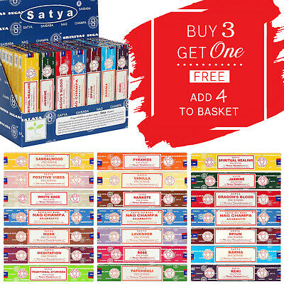 🌟 Satya Sai Baba Genuine Nag Champa Incense Joss Sticks 15g Mix & Match Scents