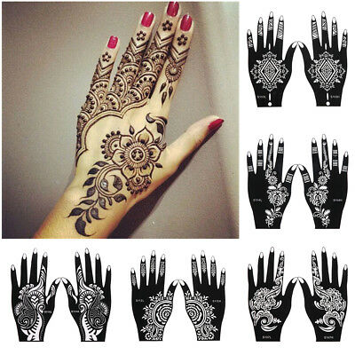Tool DIY Body Art  Henna Template Sticker Tattoo Stencils Temporary Hand Decal