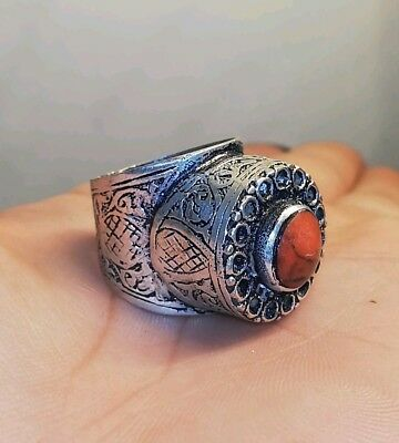 HUGE VINTAGE Ring lovely MEDIEVAL GYPSY Boho Afghan Persian TRIBAL Traditional