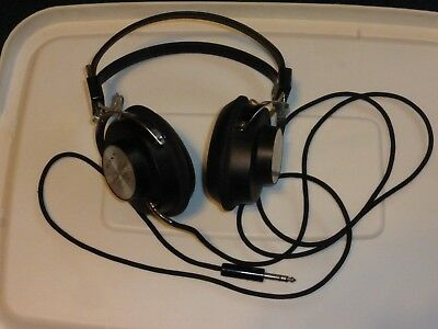 Sony DR-5A Stereo Headphones, Cloth Cord, 1/4-inch Jack, Tested / Works, Clean!