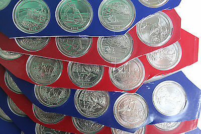 2010-2017 P and D ATB Quarter 80 BU America the Beautiful 25c Coin Lot Mint PKG