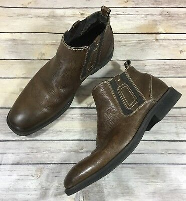 87cd2ad2b05 STEVE MADDEN MEN'S 11 Used Leather Shoes Ankle Zip Boots - $22.19 ...