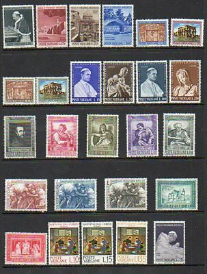Vatican City 1964-1965 year sets - Scott #'s 375-422 - MNH