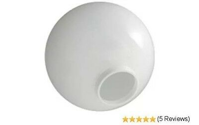"""6 - 12"""" WHITE ROUND GLOBE OUTDOOR SPHERES  20012-WH-4F  TOP 4"""" Neck Fitter NEW"""