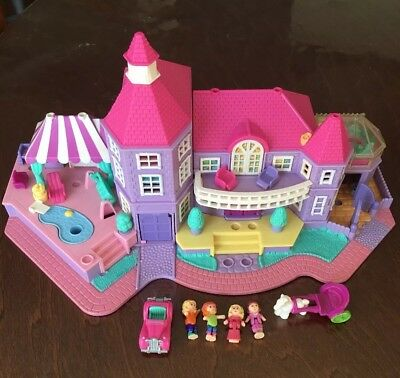 Vintage Polly Pocket Bluebird 1994 Magical Mansion Complete Play Set All Figures