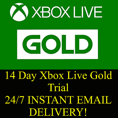 Xbox Live 14 Day Gold Trial Membership 14 Days 2 Weeks Xbox One | Email Delivery