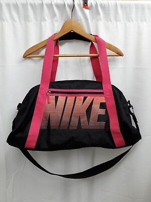 6d5ab748c78bc9 VTG Nike Women's Athletic Gym Duffel Bag Neon Pink Black Shoulder Hand  Straps