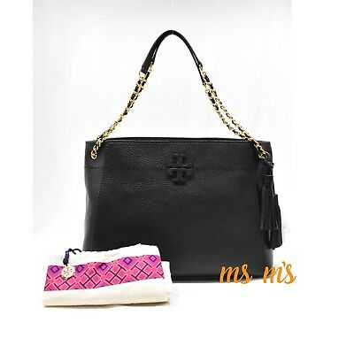 56576ffb0d NWT Tory Burch Black McGraw Slouchy Chain Slouchy Tote tassel not outlet  item
