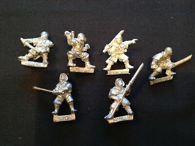 .Games Workshop Citadel Ninja x 6 Oriental Heroes OH1 Classic 80s metal. Bundle