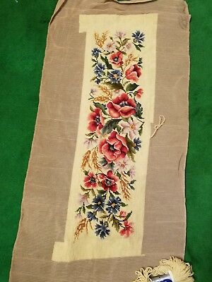 Needlepoint LARGE Canvas Flowers Tapestry in Yellow Needs to Be Finished