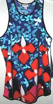 22daabd943efa Peter Pilotto for Target Red Iris Print Floral Tank Top Flowy XS S M  Multicolors