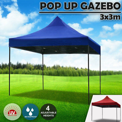 3x3m Pop Up Gazebo Outdoor Tent Folding Marquee Party Camping Market Canopy